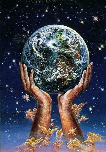 Рисунки планеты земля